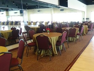 Tables and chairs available in our event venue